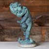 Italian Bronze Fountain of a Crying Baby with Frogs