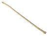 14K Yellow Gold and 3.3 ct Diamond Tennis Bracelet