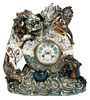 Keller & Guerin Faience Pottery Mantel Clock