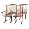 Four George Nakashima Style Conoid Chairs
