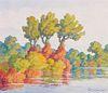 Birger Sandzén  Autumn Harmony (Smoky Hill River, Kansas)