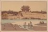 "Hisoshi Yoshida ""Daido Gate"" Woodblock Print"