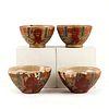 Set of 4 Chinese Qing Tea Bowls