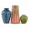 Grp: 3 Rookwood Pottery Arts & Crafts Vases