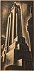"""Howard Cook """"Skyscraper"""" Wood Engraving"""