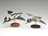 Two flying decoys with metal wings. John Smith, Barrington Passage, Nova Scotia.
