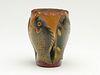 Very rare and wonderful carved fish vase, Oscar Peterson, Cadillac, Michigan.