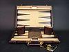 A Pierre Cardin Backgammon traveling Leather Board/Case