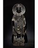 HUGE GANDHARA SCHIST STONE FIGURE OF STANDING BUDDHA