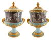 A PAIR OF RUSSIAN IMPERIAL CRATER VASES, IMPERIAL PORCELAIN FACTORY, ST. PETERSBURG, PERIOD OF ALEXANDER II (1855-1881), POSSIBLY BASED ON DESIGN BY A