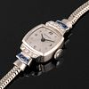Movado Ref. 4045 White Gold, Diamond and Sapphire Bracelet Watch