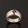 A Ron Beauchamp White Gold and Black Diamond Ring