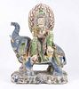 Southeast Asian Painted Carved Wood Deity