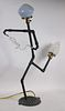 Harry Anderson, Mixed Media Figural Lamp