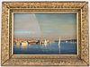 John Philip Hagen, Oil on Canvas, Harbor Scene