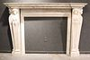 George III Style Cast-Marble Fireplace Mantel
