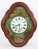 French Paint-Decorated Wall Clock
