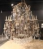 Louis XV Style 20-Light Crystal &Metal Chandelier