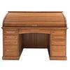 Secreter. Estados Unidos. Siglo XX. Marca Cutler desk co. Elaborado en madera. Con cubierta abatible, 9 cajones inferiores.