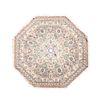 Tapete. México. Siglo XX. Marca imperial. Diseño octagonal. Elaborado en fibras de poliester, algodón y yute.