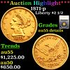 ***Auction Highlight*** 1871-p Gold Liberty Quarter Eagle $2 1/2 Graded au55 details By SEGS (fc)