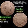 1795  Plain Edge Mint Error 2 Clipped Planhet Liberty Cap half cent 1/2c Grades g details