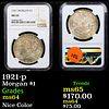 NGC 1921-p Morgan Dollar $1 Graded ms64 By NGC