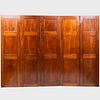Louis Philippe Mahogany Five-Panel Screen