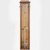 Edwardian Oak Barometer, Alfred Davis Sole Manufacturer, London