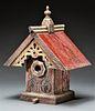 Victorian Sunburst Birdhouse with Brass Predator Guard