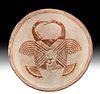 Rare Prehistoric Mimbres Pottery Bowl - Turkeys