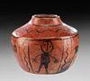 Maricopa Pottery Jar w/ Painted Motif