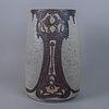 Florero estilo Art Nouveau en cerámica color arena / Art Nouveau high temperature ceramic flower vase