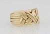 Man's 18K Yellow Gold 8 Band Puzzle Ring, size 11, Wt.- .5 Troy Oz. Provenance: The Estate of Dr. Sue LeBlanc, Hammond, Louisiana.