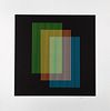"CARLOS CRUZ-DIEZ, Untitled, from the series Semana, Signed, Serigraph ED A III/V, 15.7 x 15.7"" (40 x 40 cm)"