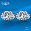 7.26 carat diamond pair Oval cut Diamond GIA Graded 1) 3.54 ct, Color D, IF 2) 3.72 ct, Color D, IF. Unmounted. Appraised Value: $710,600