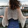 ecru silk crochet shrug