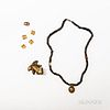Pre-Columbian Tairona Bead Necklace with Gold Pendant