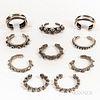 Ten Silver Bracelets from Timor-Leste