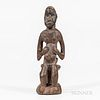 New Guinea Carved Wood Seated Figure