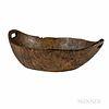 Early Northeast Carved Burlwood Bowl
