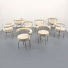 8 Pierre Jeanneret, Charlotte Perriand & Le Corbusier Dining Chairs