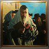 Jewish men gathered