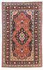 Antique Persian Mohtasham Kashan , 4'7'' x 7'6''