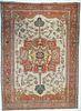 """Antique Persian Serapi, 9'2"""" x 12'7"""""""