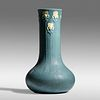 Ruth Erickson for Grueby Faience Company, Exceptional and Tall vase with irises