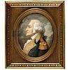 c. 1830 General George Washington Oval Watercolor and Gouache Miniature Portrait