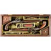 English Flintlock Officers / Dueling Pistols Cased Set made by Durs Egg, London