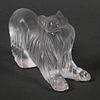 Lalique France Yorkshire Terrier Dog Figurine