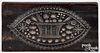 New York carved mahogany cake board